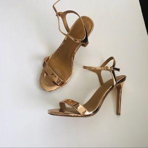 ASOS Gold heels Sz 8